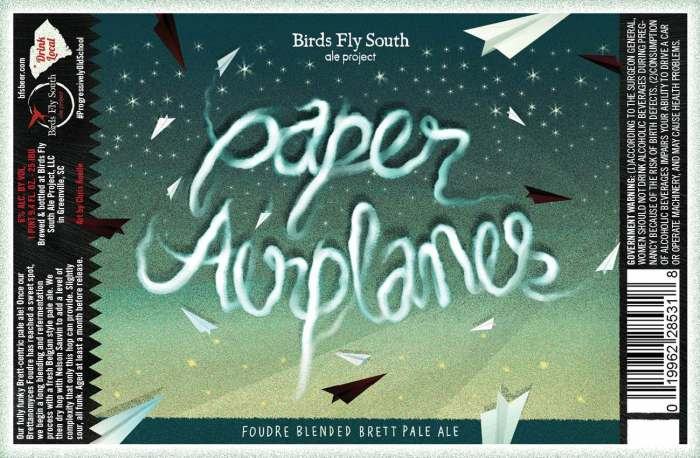 Birds Fly South Ale Project Paper Airplanes Foudre Blended Brett Pale Ale