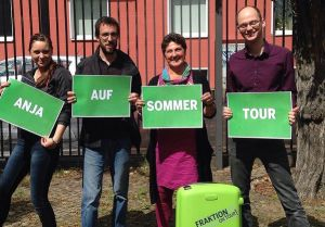 Anja Piel (3.v.l.) mit Tour-Team, Foto: Bündnis 90/Die Grünen Landtagsfraktion