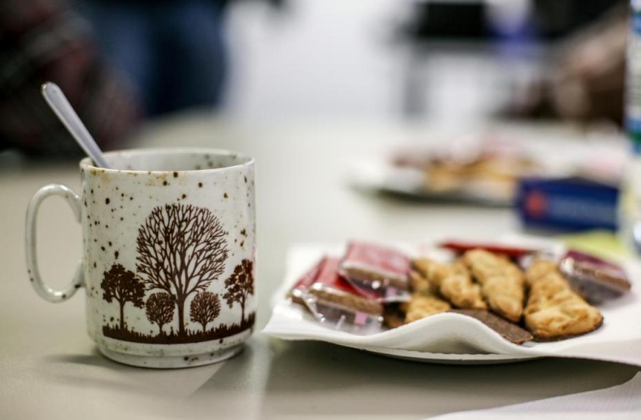 Repair Café in Meinerzhagen, Kaffee und Plätzchen