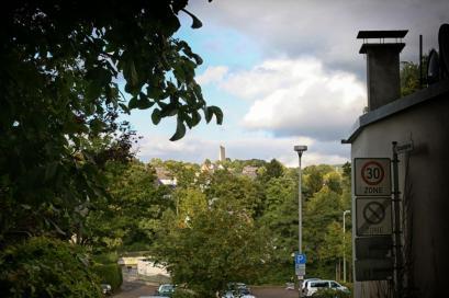 Blick auf die Stadt, Schaumgasse in Meinerzhagen. © 2015 Foto: Stefanie Schildchen