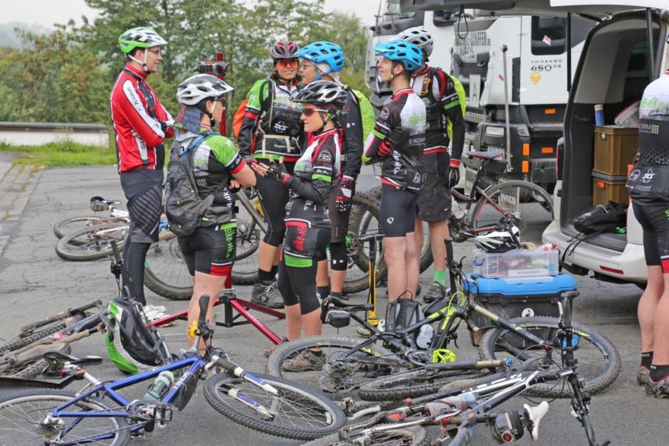 Sehr stark vertreten war die Gruppe von Bike-MK. © Foto: Hendrik Klein/Märkischer Kreis