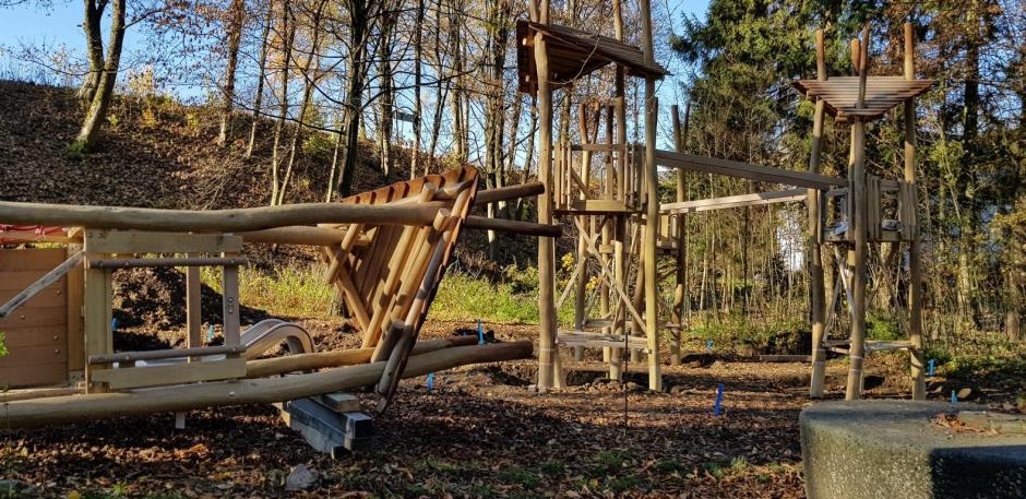 Baustelle: Spielplatz im Volkspark Meinerzhagen