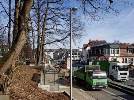 Baumfällung im Volkspark, Meinerzhagen. © 2019 Foto: Stefanie Schildchen