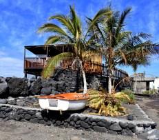 Boot unter Palmen