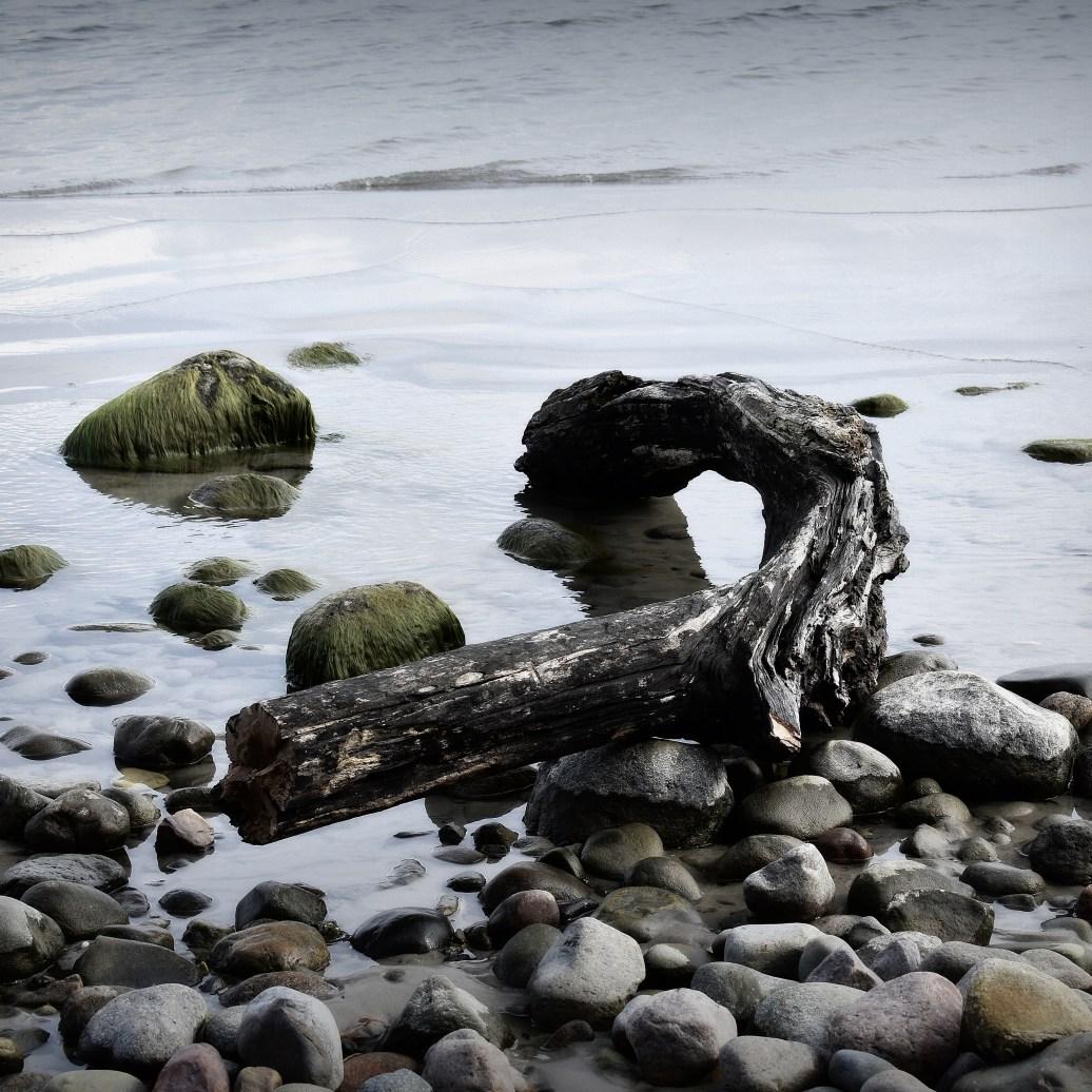 Findlinge am Strand