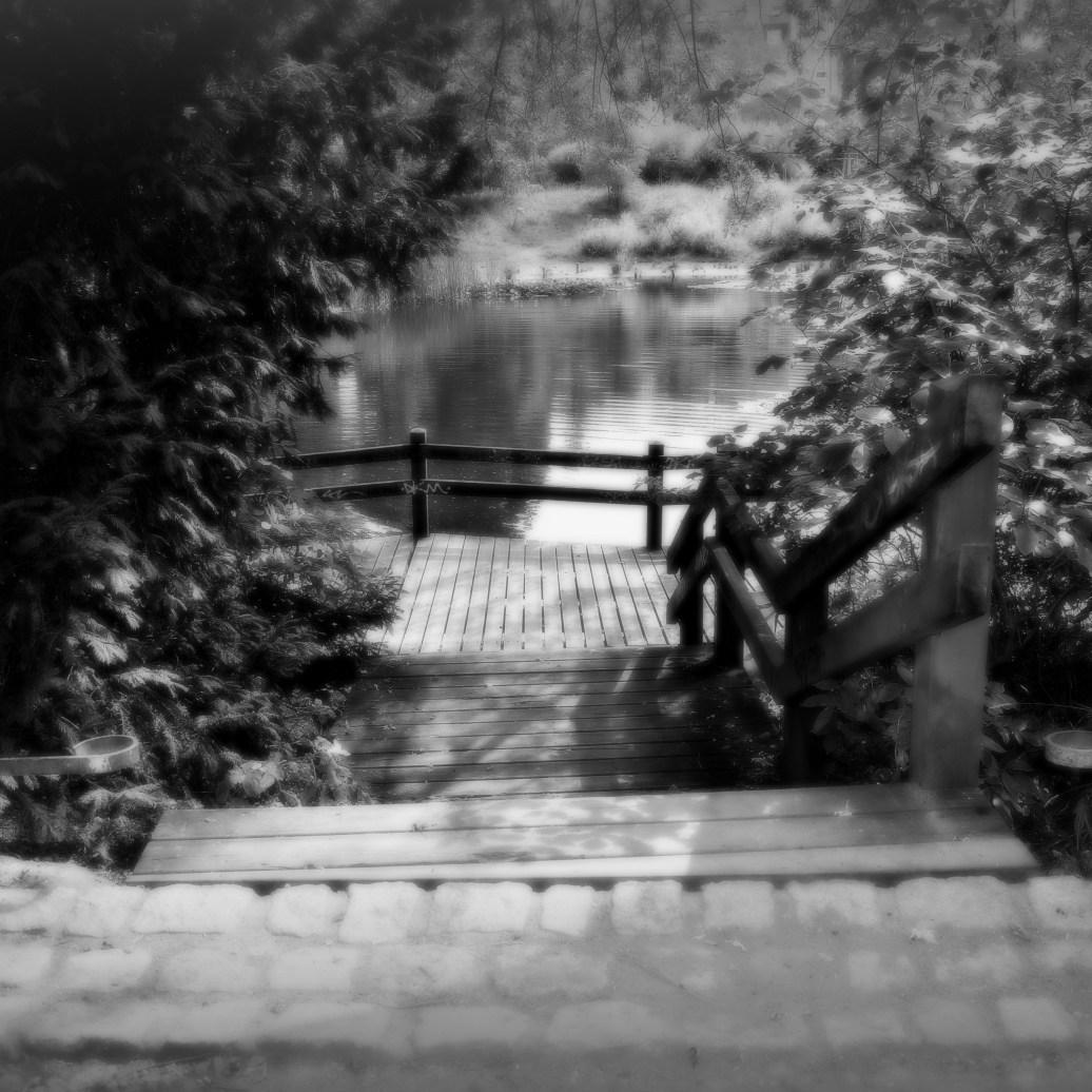 Treppe zum See sw weich