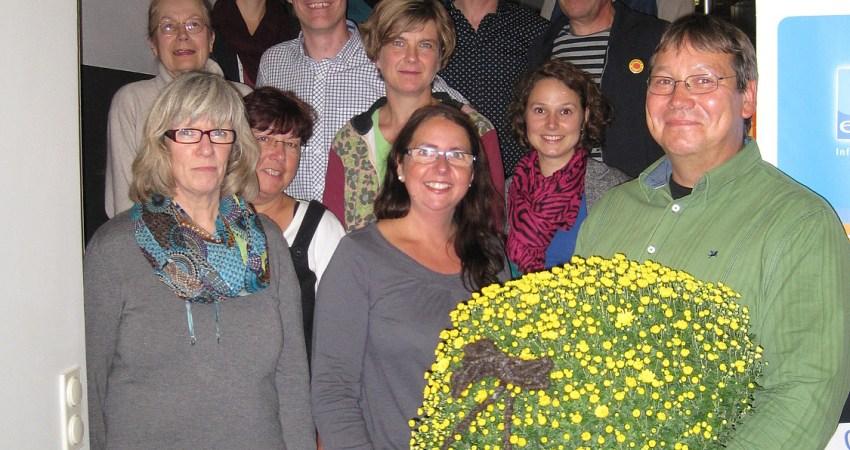 Gruppenfoto mit Andreas Schmidt und der Grünen-Fraktion im Lemgoer Rat