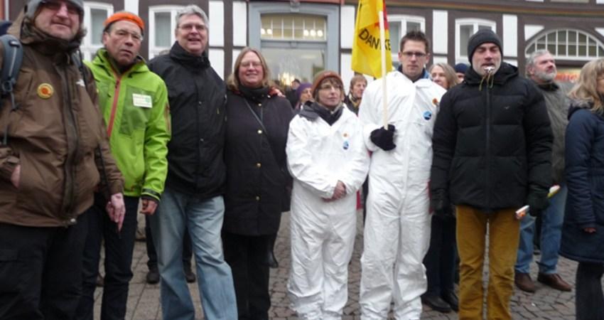 Lemgoer Grüne bei Anti-Atom-Demo in Hameln