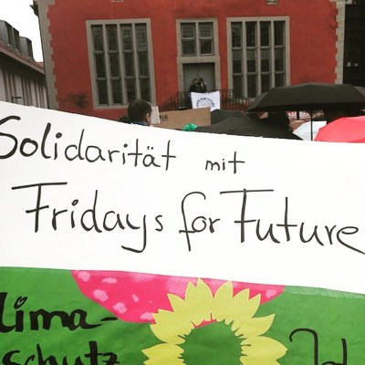 We Support FridaysForFuture