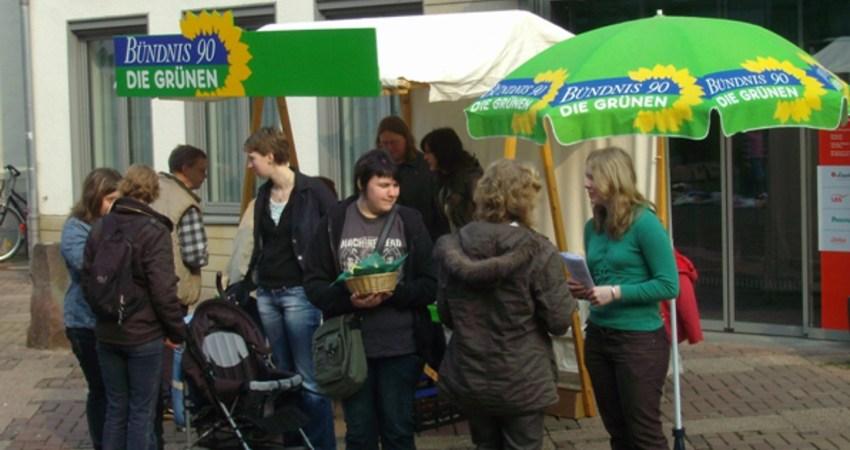 Osterstand der Grünen Lemgo 2009