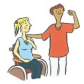 Wir setzen uns für Menschen mit Behinderung ein.