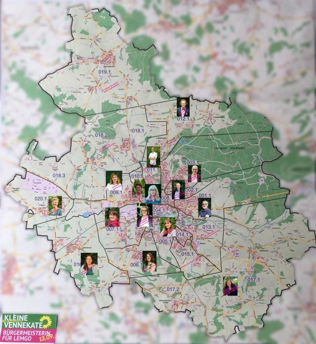 Grüne Lemgo - Wahlbezirke und -Kandidat*innen 2020