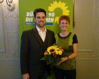 Ute Koczy wurde von Robin Wagener zur Nominierung beglückwünscht.