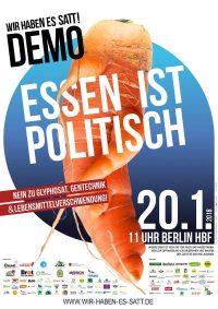 """Plakat zur Demo """"Wir haben es satt!"""""""