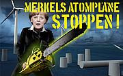 Logo Merkels Atompläne stoppen
