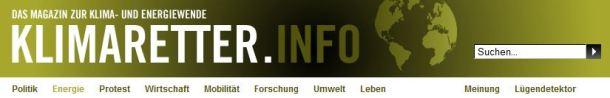Wie wird man Klimaretter? Das Informationsportal sucht nacht Antworten (Screenshot: klimaretter.info)