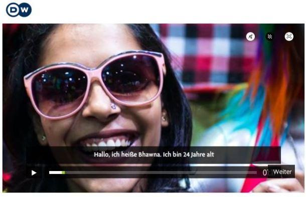 Die Webdoku begleitet Bhawna auf ihrem Weg durch Mumbai (Screenshot: http://webdocs.dw.de/mumbai/)