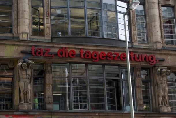 Ort für nachhaltigen Journalismus? Das taz-Gebäude in Berlin (Quelle: Marc Wathieu/ CC BY-NC 2.0)