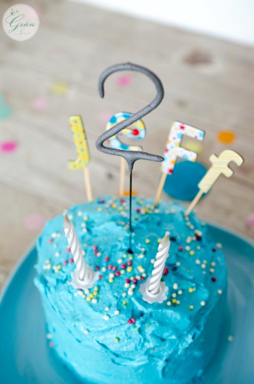 Torte für den zweiten Geburtstag vegan