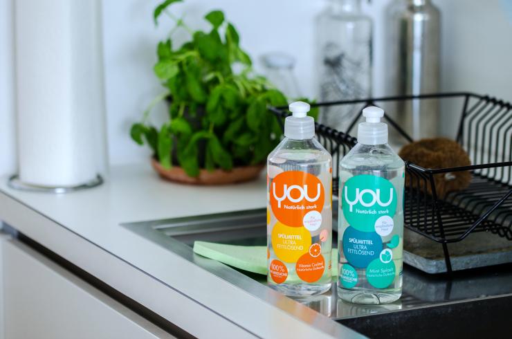 Nachhaltige Reinigungsmittel von YOU - Spülmittel