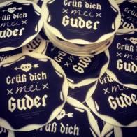 Grüß Dich Mei Guder Sticker