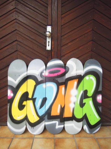 GDMG Skateboard Decks. Skateart. Kunst und so - Grüß dich mei Guder. Street Art. Graffiti Coburg. JDE TDN CSW GDMG!