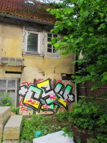 CSW Backyard. Kunst und so - Grüß dich mei Guder. Street Art. Graffiti Coburg. JDE TDN CSW GDMG!