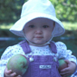 Apple picking at 13 months