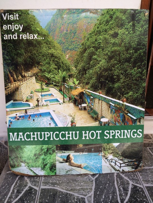 Aguas Calientes hot springs - Not as advertised