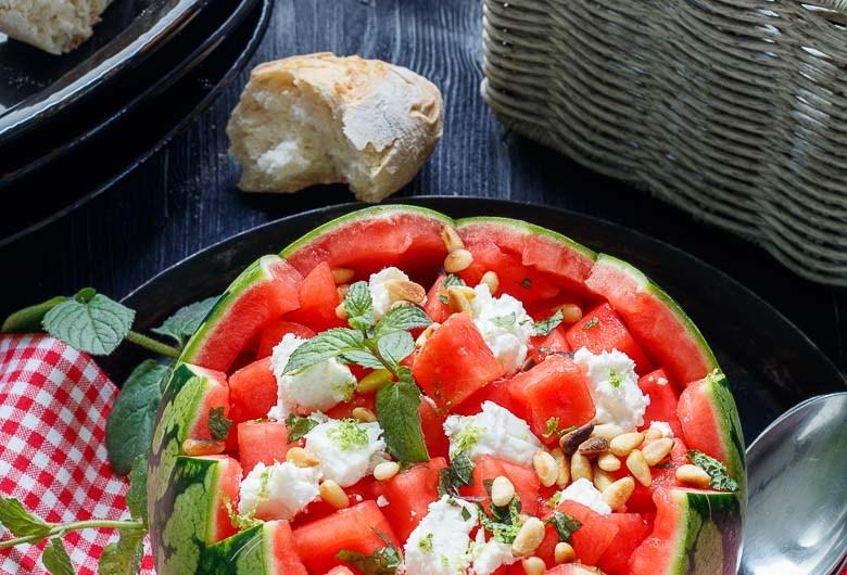 Wassermelonen - Feta - Salat