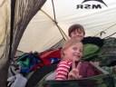 Rett hjem til noen kjekk små som også var klar for sovepose og telt.