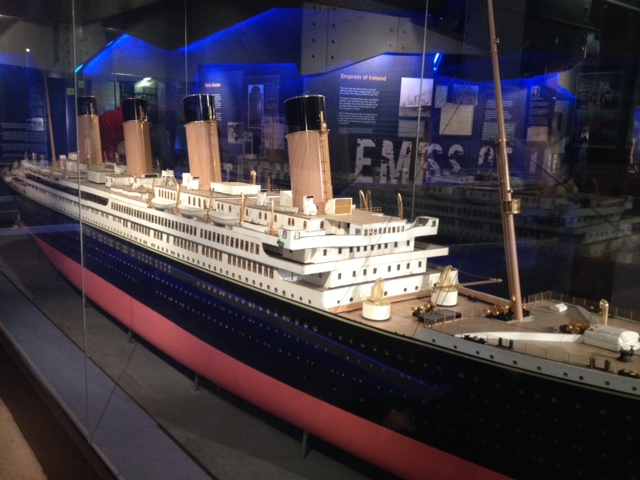 A model of the ill-fated Titanic, made at the same time and in the same place as the ship itself.