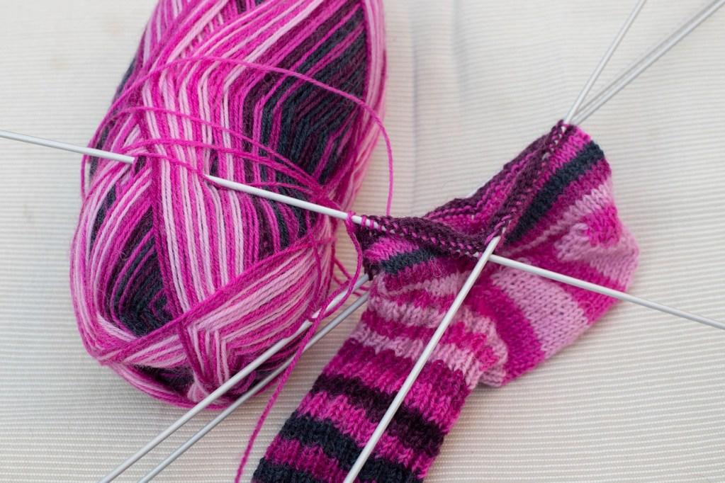 knitted fabric, knitting, socks
