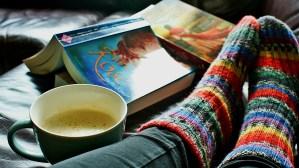 read, socks, coffee