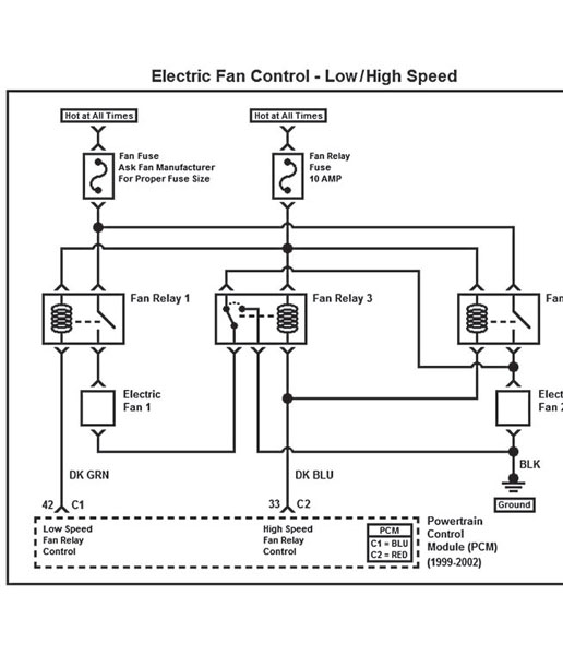 automotive electric fan relay wiring diagram pioneer deh p6800mp cooling off that c4 corvette grumpys performance garage img