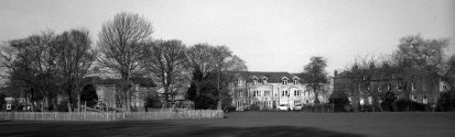 Menston Hall, pictured from the village park
