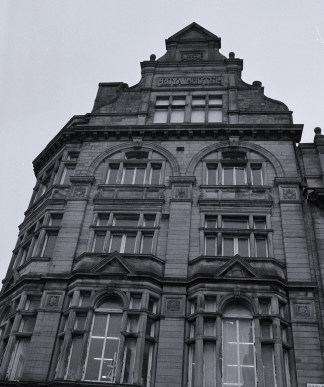 What was once the Royal Hotel, bult in 1887. At ground level it's now a charity shop