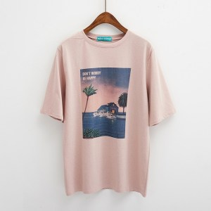 T-shirt tumblr dont worry be happy rose