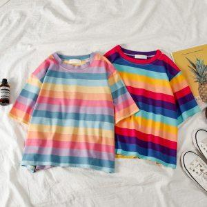 T-shirt vsco arc-en-ciel