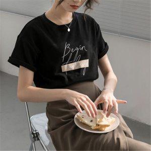 T-shirt minimaliste noir