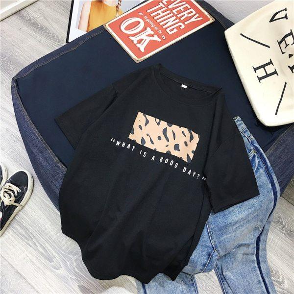 T-shirt streetwear good day noir