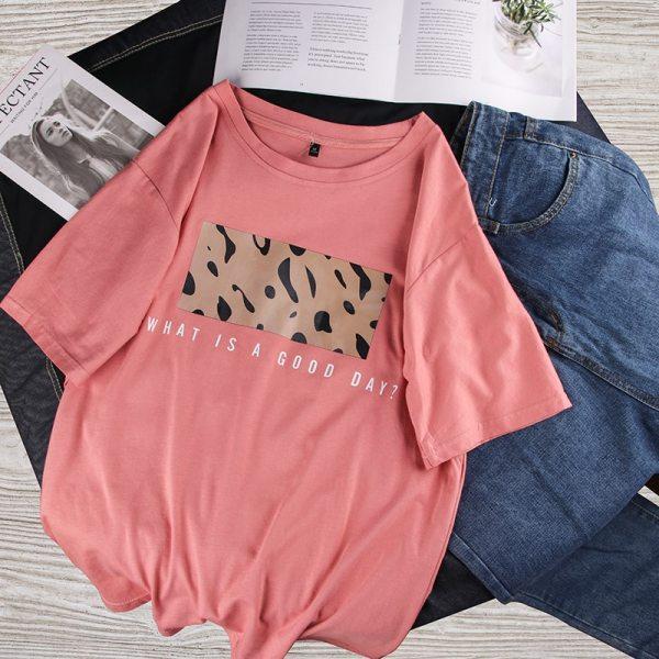 T-shirt streetwear good day rose