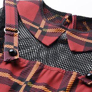 Robe vintage - Carreaux rouges