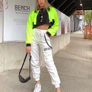 Pantalon streetwear blanc