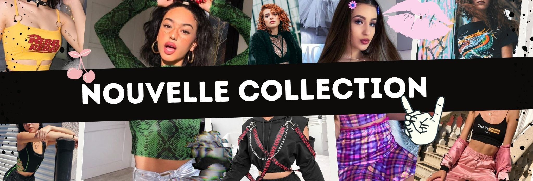 Nouvelle collection de vêtements Grunges, gothiques, aesthetics, style e-girl et tumblr