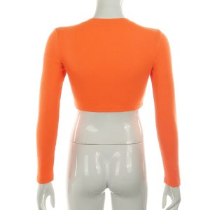 Crop top orange - Tumblr style
