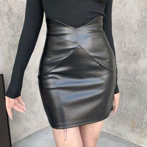 Jupe moulante - Simili cuir