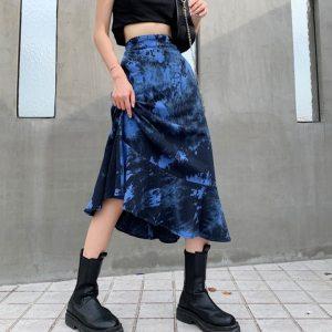 Jupe longue - Bleu électrique