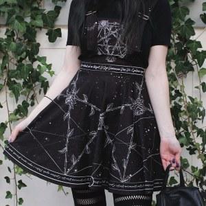 Salopette gothique - Roses