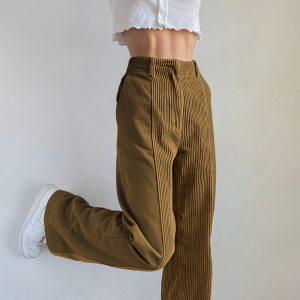 Pantalon velours - Bandes